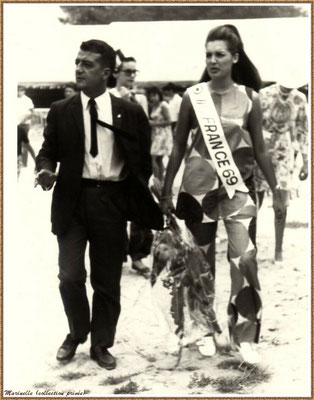 Gujan-Mestras autrefois : Inauguration de la 1er Foire aux Huîtres des 08, 09 et 10 août 1969, Bassin d'Arcachon (collection privée)