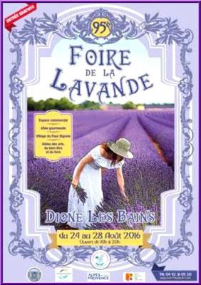 Affiche Foire de la Lavande de Digne les Bains 2016
