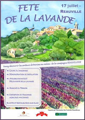Affiche Fête de la Lavande, Reauville 2010