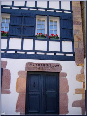 Aïnoha : vieille maison basque de 1733 (Pays Basque français)
