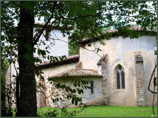 Eglise St Michel du Vieux Lugo à Lugos (Gironde) : façade Sud, le choeur