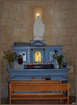 Eglise Sainte Radegonde de Talmont-sur-Gironde (Charente-Maritime) : autel de la Vierge