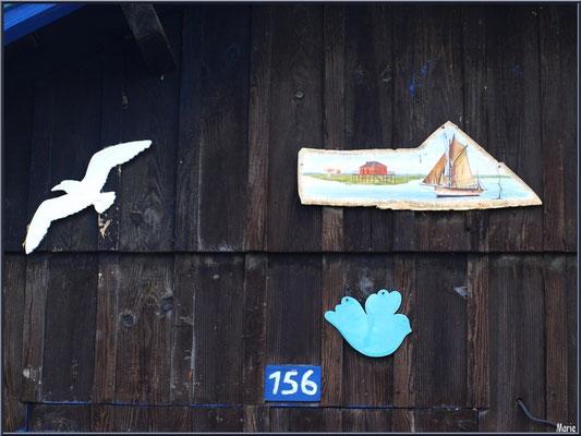 Cabane 156, détail, au port ostréicole de La Teste de Buch (Bassin d'Arcachon)