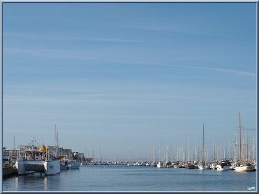 """Arcachon, """"Ville d'Automne"""", le port de pêche (à gauche) et le port plaisance (à droite)"""