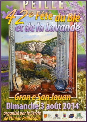Affiche Fête du Blé et de la Lavande, Peille 2014