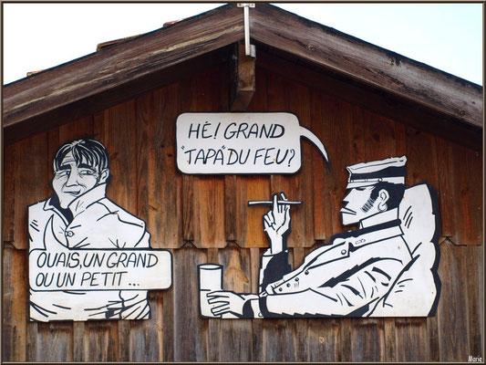 Cabane à la déco pour les fans du beau Corto au port ostréicole de La Teste de Buch (Bassin d'Arcachon)