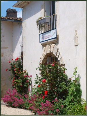 Ruelle et boutique à Talmont-sur-Gironde (Charente-Maritime)