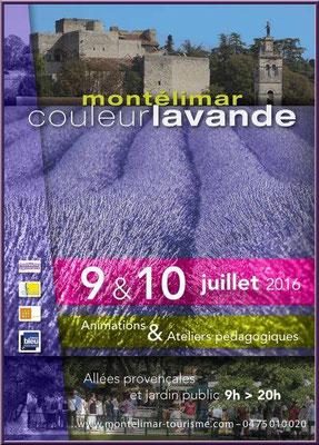 Affiche Montélimar Couleur Lavande 2016