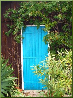 Maison cabane aux volets bleus, village de L'Herbe, Bassin d'Arcachon (33)