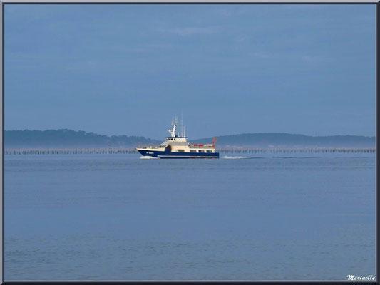 """Vedette en sortie, vue depuis le front de mer de Péreire en """"Ville de Printemps"""" à Arcachon"""