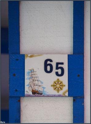 Détail maison 65, village de L'Herbe, Bassin d'Arcachon (33)