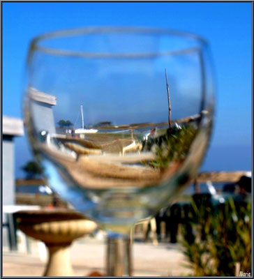 """Le Mimbeau"" dans un verre (Cap Ferret)"