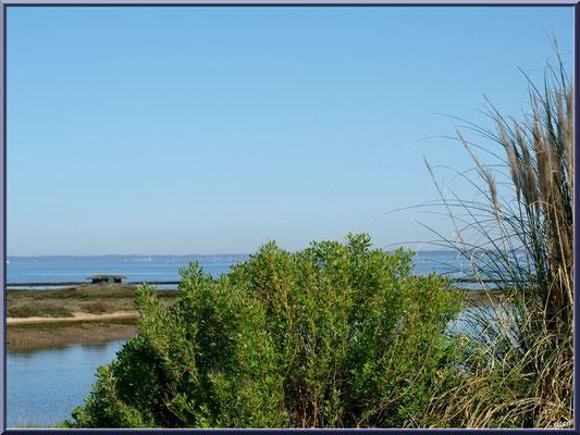 Vue sur le Bassin depuis l'extrémité du port