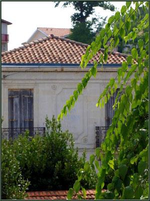 """Arcachon, """"Ville d'Automne"""", villa aux volets clos derrière la verdure"""