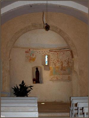 Eglise Saint-Eloi, fresque XVème et statue de Sainte Quitterie, Andernos-les-Bains (Bassin d'Arcachon)