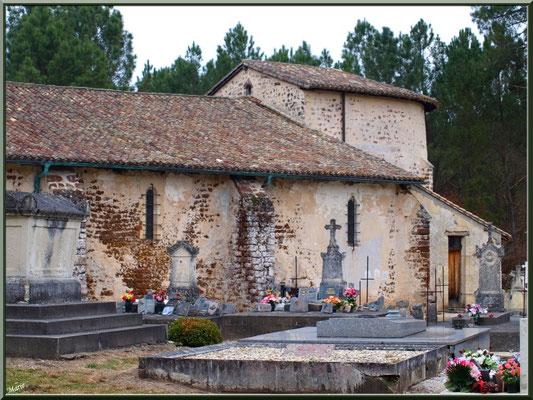 Eglise Saint Pierre de Mons et son cimetière à Belin-Beliet (Gironde)