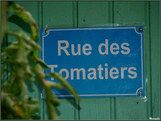 Panneau Rue des Tomatiers, Village de L'Herbe, Bassin d'Arcachon (33)