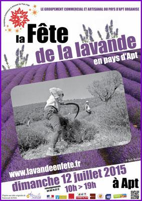 Affiche Fête de la Lavande en Pays d'Apt 2015