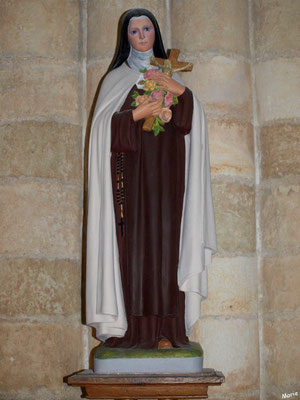 Eglise Sainte Radegonde de Talmont-sur-Gironde (Charente-Maritime) : statue de Sainte Thérèse