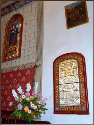 Aïnoha : l'église Notre Dame de l'Assomption, vitrail et tableaux (Pays Basque français)