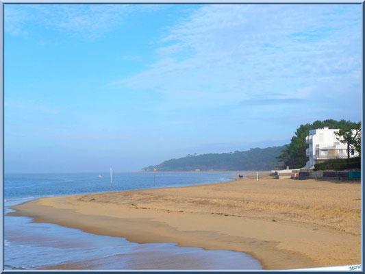 La plage du Moulleau à Arcachon depuis la jetée
