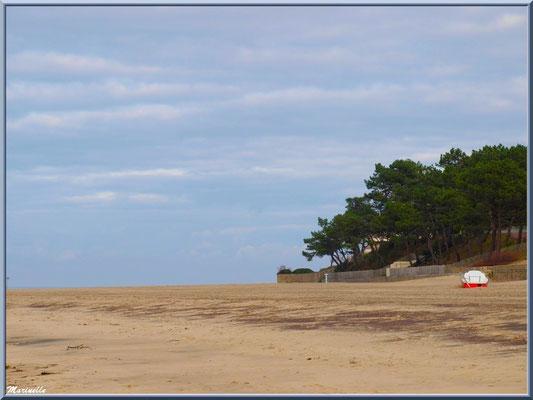 La plage Péreire à marée basse à Arcachon, Bassin d'Arcachon (33)