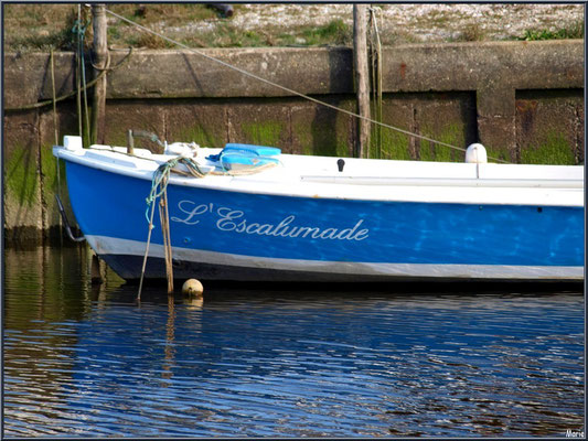 "Pinasse ""L'Escalumade"" à quai au port d'Arès (Bassin d'Arcachon)"