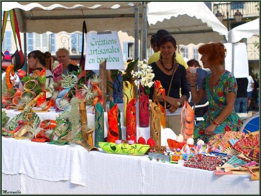 Etal créations artisanales en bambou, Fête au Fromage, Hera deu Hromatge, à Laruns en Vallée d'Ossau (64)