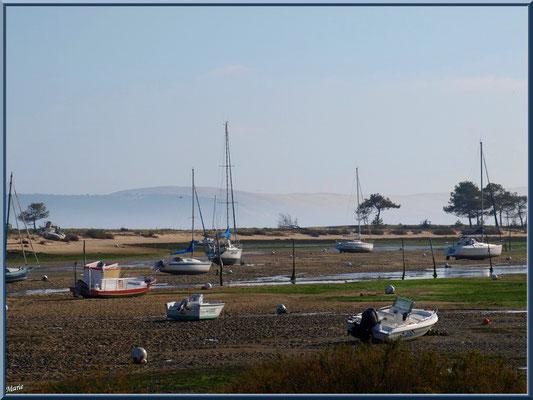 """""""Le Mimbeau"""" (Cap Ferret) à marée basse et la Dune du Pyla à l'horizon"""