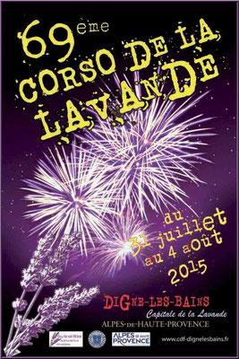 Affiche Corso de la Lavande, Digne-les-Bains 2015