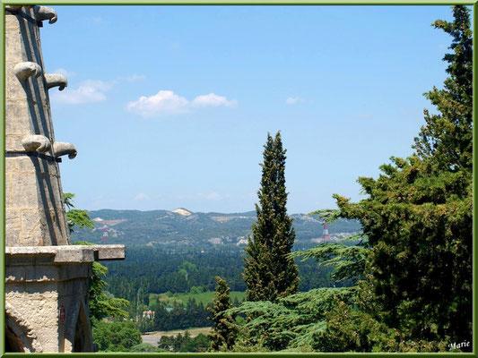 Clocher et vue panoramique sur le paysage
