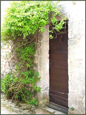 Porte ancienne verdoyante à Talmont-sur-Gironde (Charente-Maritime)