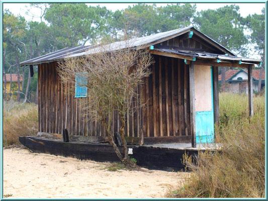 La conche à marée basse avec une cabane sur chaland (Cap Ferret)