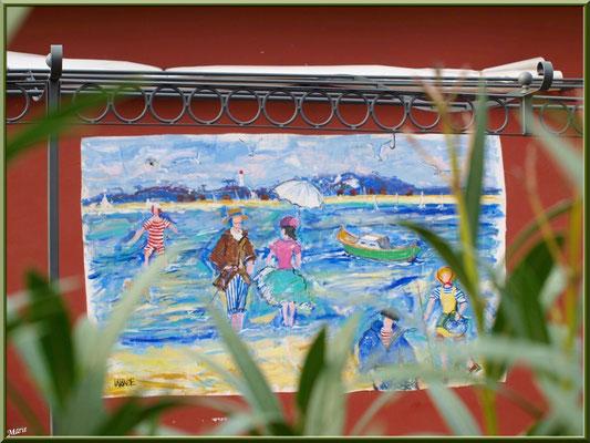 """Fresque murale """"Le Moulleau Village"""" à Arcachon"""