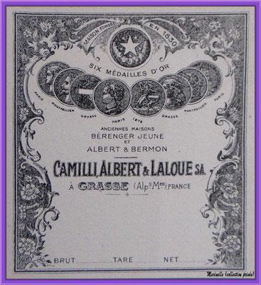 Lavande, étiquette ancienne (collection privée)