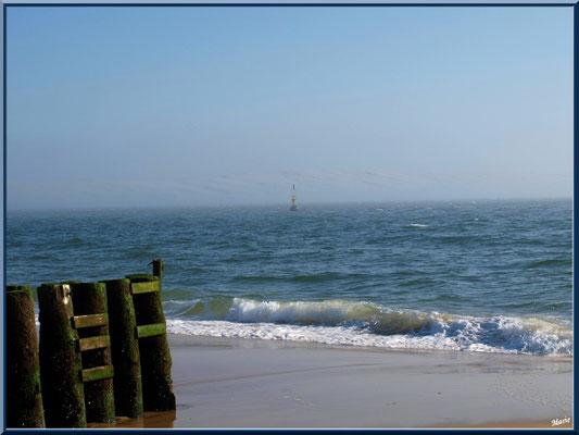 """""""La Pointe"""" : la plage, le Bassin, la balise de sortie des """"Passes"""" et la Dune Pyla (Cap Ferret)"""