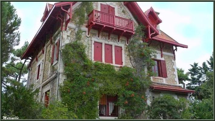Villa Saint-Dominique, Quartier du Moulleau, Arcachon (Bassin d'Arcachon - 33)