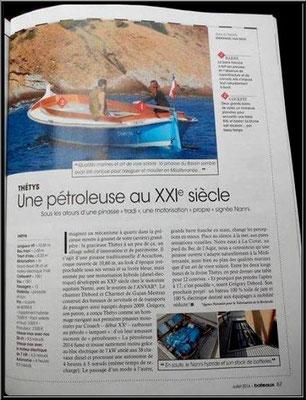 Article publié dans la revue Bâteau L'Art de Vivre La Mer en juillet 2014, Chantier Naval Debord et Charmet, Port de Meyran à Gujan-Mestras, Bassin d'Arcachon (33)