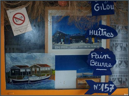 Déco d'une dégustation d'huîtres au port ostréicole de La Teste de Buch (Bassin d'Arcachon)