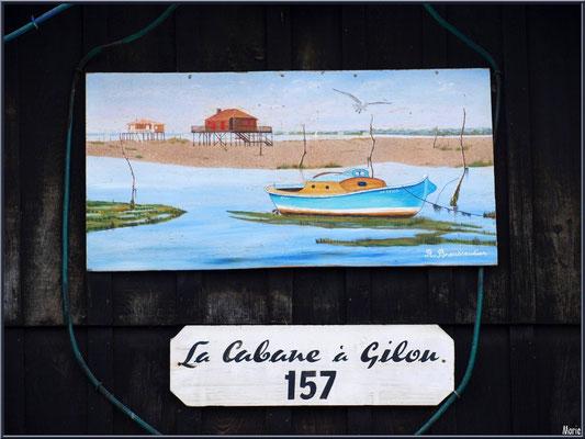 """Cabane 157 """"La Cabane à Gilou"""" au port ostréicole de La Teste de Buch (Bassin d'Arcachon)"""