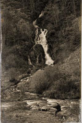 Cascade de la Voissière 12.11.13 Façon photo ancienne .