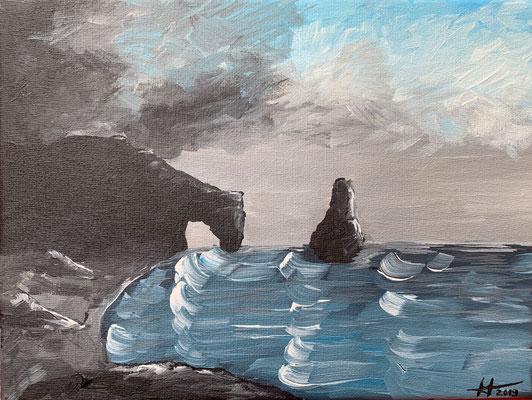 Acrylic Landscape on canvas N° II,  24 x 18 cm, 2019