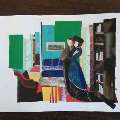Collage, Felix Vallotton, Der Besuch