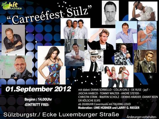 Plakat Carreéfest Sülz 2012