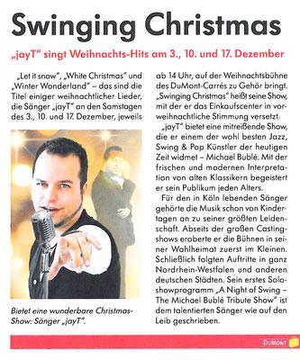 """Presseartikel zur Premiere von """"A Swinging Christmas"""" 2011"""