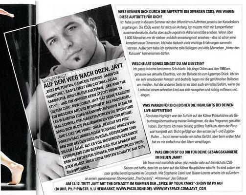 """Interview """"blu"""", Ausgabe 12/2008"""