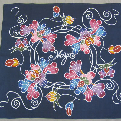 藍色 牡丹とつぼみ maya様