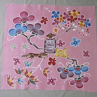 ピンク色 松竹梅 犬3匹 恵子様