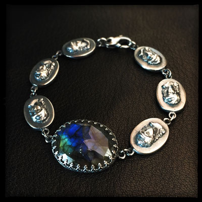 Lady of the Lake Bracelet - Sterling Silver, Labradorite