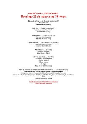 Programa 23-5-21. Ateneo de Madrid